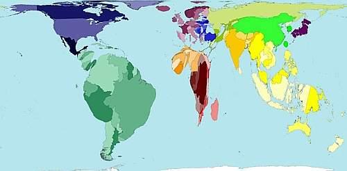 Distribuzione di acqua nel mondo