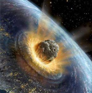 Simulazione di un impatto cosmico