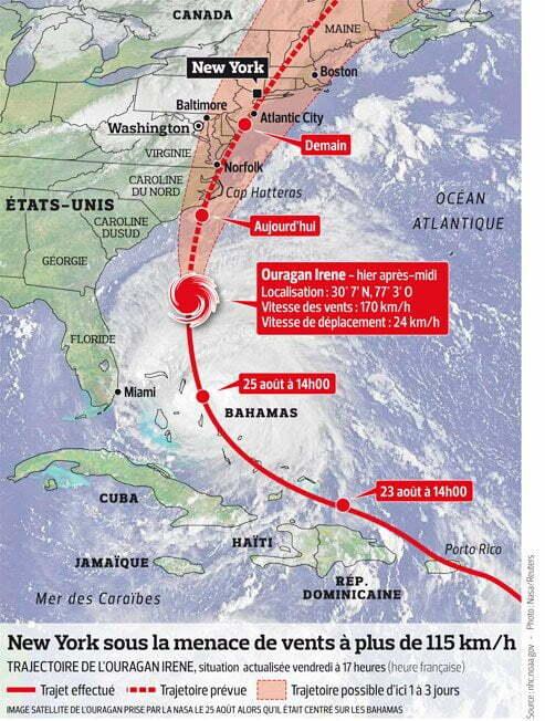 Uragano irene meravigliosa mappa satellitare in tempo reale