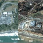 L'area di Fukushima devastata dallo tsunami fino all'altezza di oltre 15 m, oltre il doppio del massimo run up previsto.