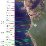 Sintesi dei dati relativi alla massima altezza lungo la costa e del del run alla base dei versanti della fascia costiera nordoccidentale di Sumatra ricostruita dai ricercatori del USGS.