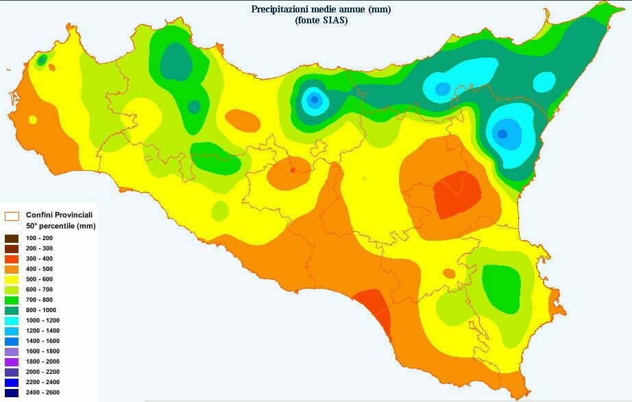 Cartina Meteo Sicilia.Clima Della Sicilia Le Piogge Meteoweb