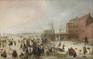 Tela di Hendrick Avercamp, esposta al Rijksmuseum di Amsterdam