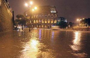 MALTEMPO: PIOGGIA, TEMPORALI E ALLAGAMENTI A ROMA E LAZIO