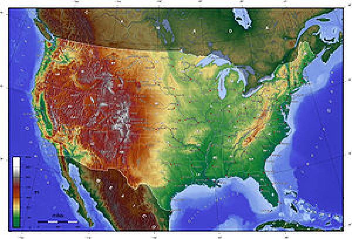Cartina Geografica Degli Stati Uniti Di America.Lo Straordinario Clima Degli Stati Uniti D America