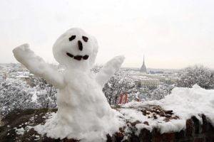 246195 maltempo inverno neve freddo torino