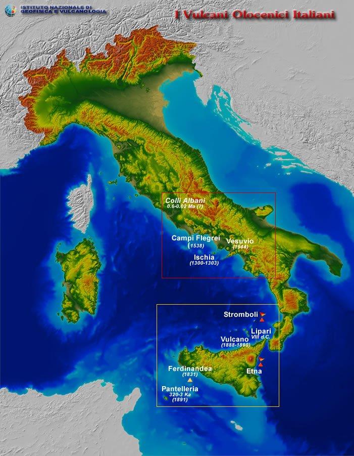 Cartina Vulcani Nel Mondo.Dalla Sicilia Al Lazio La Mappa Dei Vulcani Italiani Pericolosi Meteoweb