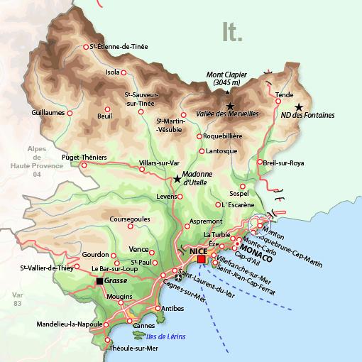 Cartina Geografica Costa Azzurra Francia.Lo Straordinario Clima Di Mentone Un Angolo Quasi Sub Tropicale