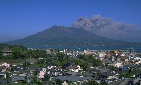Vulcano Sakurajimab Giappone