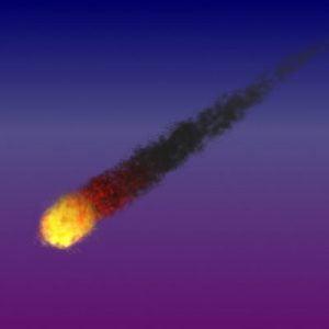 Raffigurazione di una palla di fuoco nel cielo