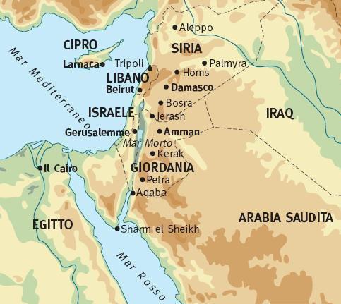 Cartina Giordania E Israele.La Giordania Clima Temperature E Geografia Meteoweb