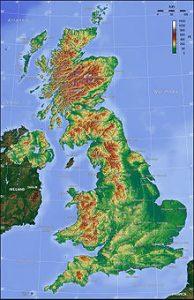 Gran Bretagna cartina