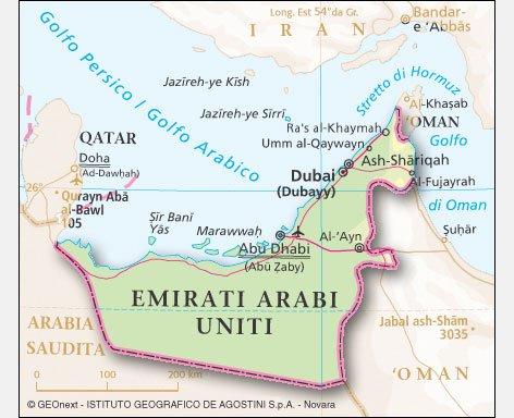 Cartina Geografica Dei Paesi Arabi.Gli Emirati Arabi Uniti Clima Temperature E Geografia Meteoweb