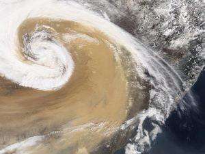 tempesta di sabbia sulla Cina