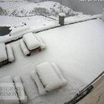 La neve di oggi sulle Alpi