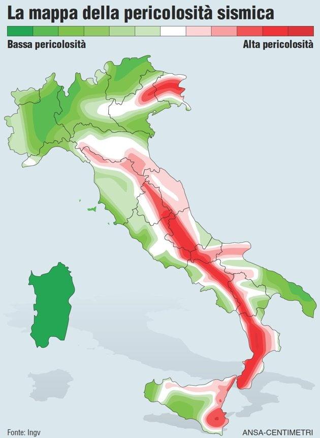 Previsione dei terremoti gresta ingv i modelli for Rischio sismico in italia