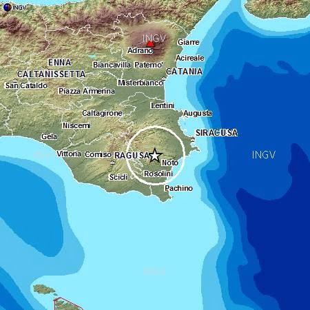 Scossa di terremoto nel siracusano, tra Noto e Canicattini Bagni ...