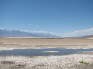 """Uno scatto del deserto salato all'interno della """"Death Valley"""", proprio qui si sono raggiunti i +53.9°C che rappresentano l'attuale record di caldo mondiale"""