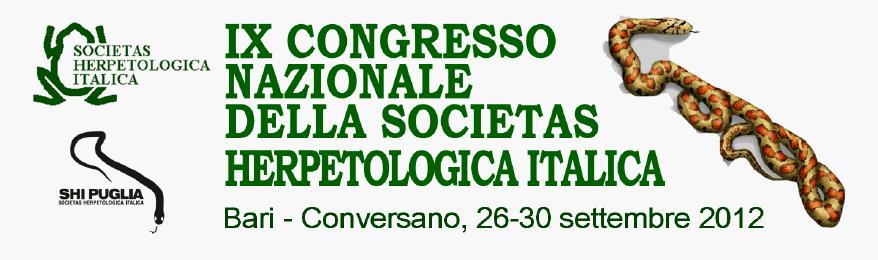 IX Congresso Nazionale della Societas Herpetologica Italica