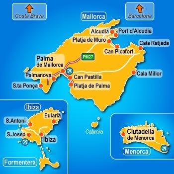 Cartina Geografica Spagna E Formentera.Le Isole Baleari Clima Temperature E Geografia Meteo Web