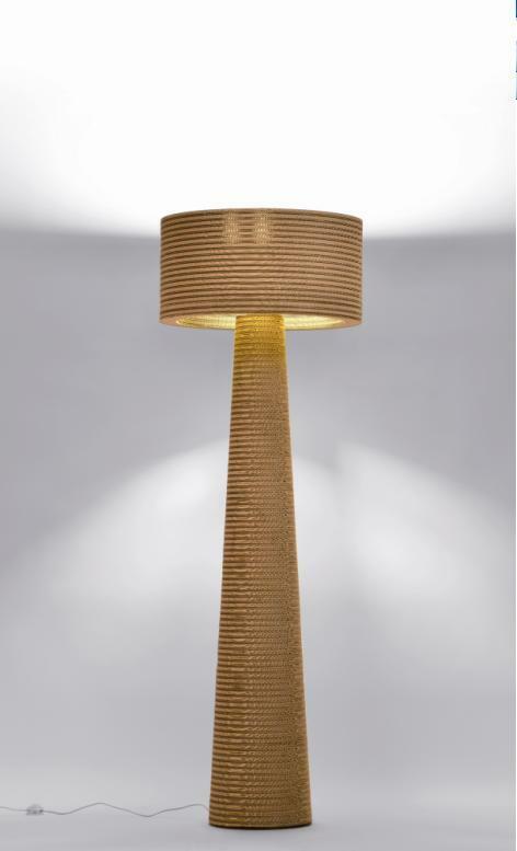 Lampade in cartone riciclato p one e fabbian meteo web - Mobili di cartone design ...