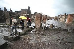 maltempo scavi pompei