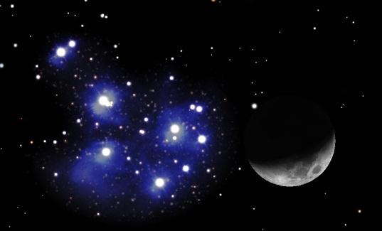 Il 3 aprile la luna e le pleiadi in congiunzione naso all for 3 stelle arreda
