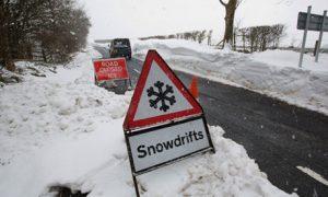 Snow in Colne