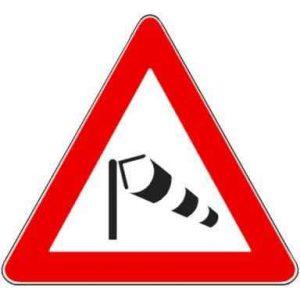 cartello stradale vento