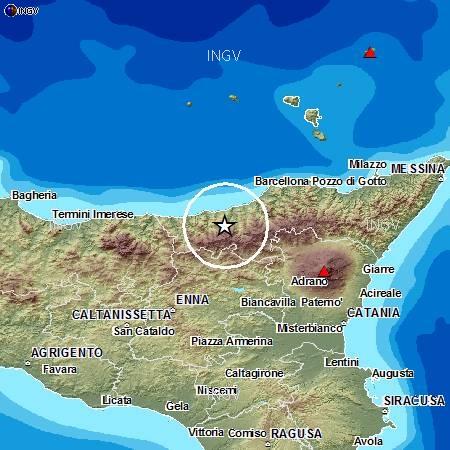 Sicilia Settentrionale Cartina.Scossa Di Terremoto Di Magnitudo 3 7 Nella Sicilia Settentrionale Mappe E Dati Meteoweb