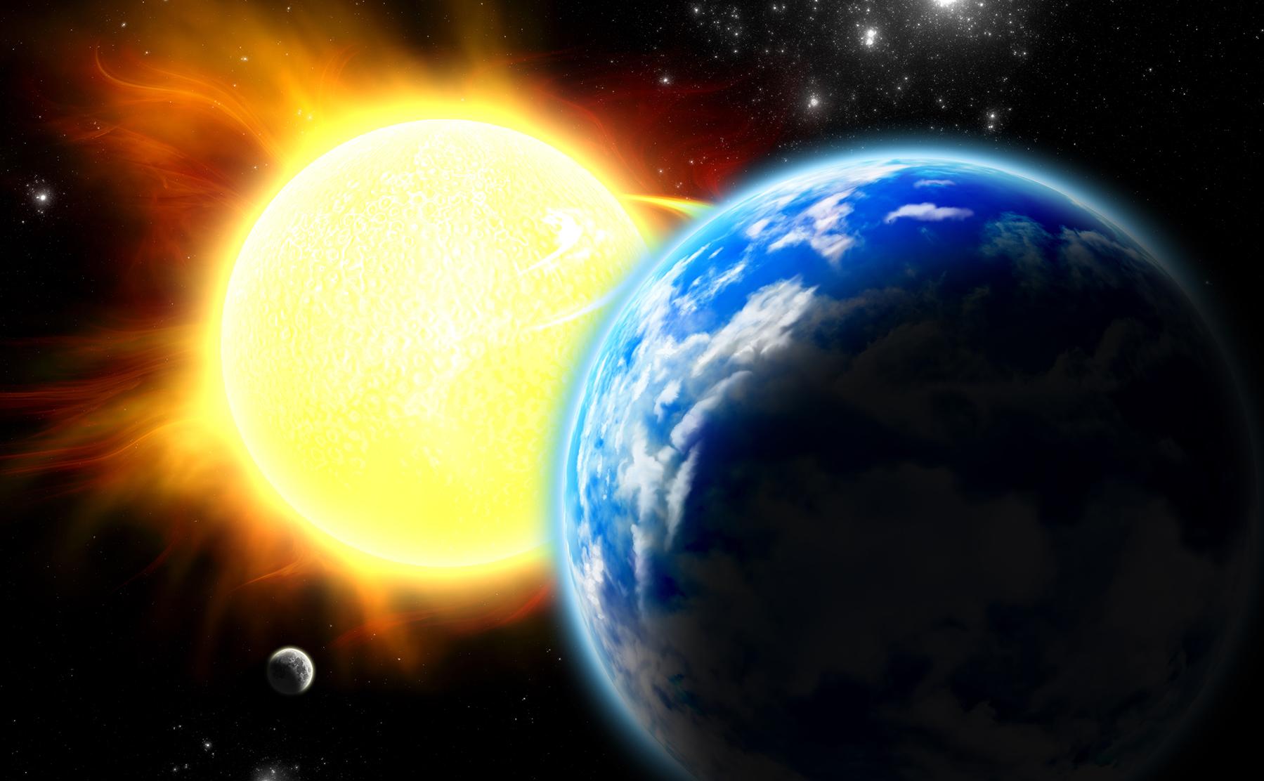 Фото луна и солнце 2