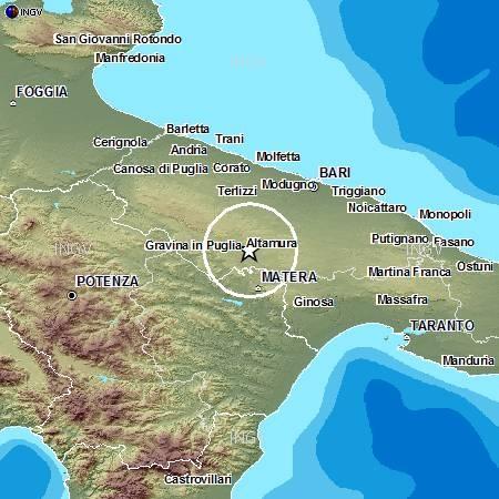 Cartina Puglia Noicattaro.Scossa Di Terremoto Di Magnitudo 2 5 Ad Altamura Ba In Puglia Meteoweb