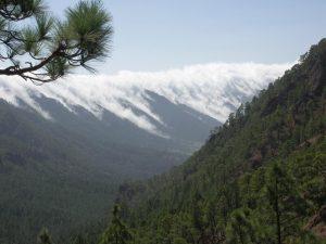 Il paesaggio montano attorno il Cumbre Vieja, nell'area più interna dell'isola di La Palma
