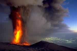 panorama etna eruzione