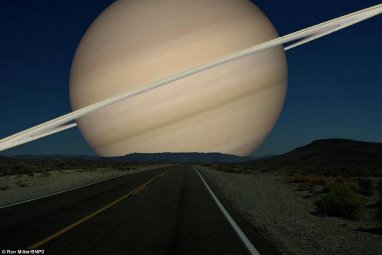 Saturno e i suoi anelli occuperebbero circa 18 gradi del cielo