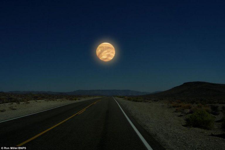 Venere è di dimensioni di poco minori rispetto alla Terra, quindi apparirebbe quasi delle dimensioni che ha la Terra se vista dalla Luna