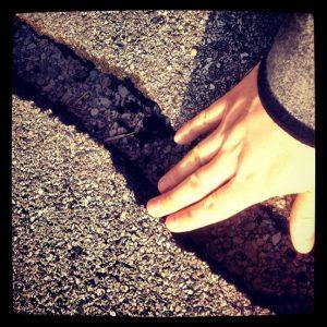 terremoto asfalto