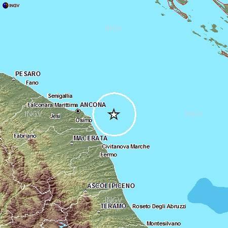 Scossa Di Terremoto Di Magnitudo 3 2 Nell Adriatico Paura