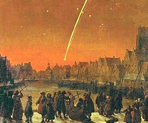 Raffigurazione dello spettacolo celeste di quei tempi