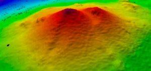 Immagine d'archivio di un vulcano sottomarino neozelandese