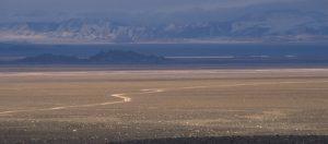 Road to Olgii through the Black desert Bayan Olgii Mongolia