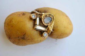 Ring on potato