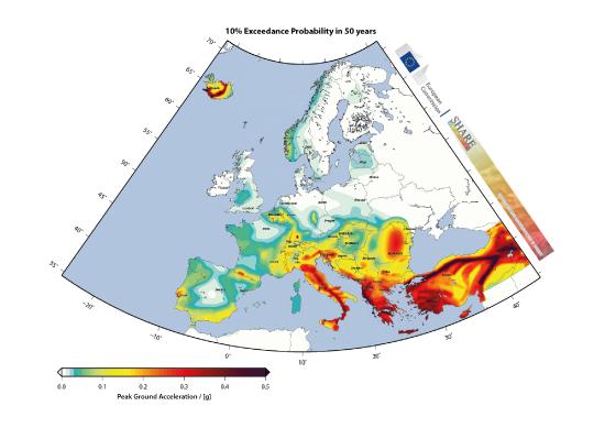 Terremoti ecco le nuove mappe di rischio sismico europee for Rischio sismico in italia