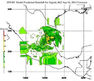 Le forti piogge che si sono abbattute sul territorio messicano