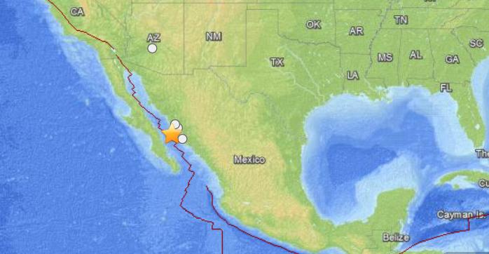 Forte scossa di terremoto nel golfo della california for Cabine romantiche nel sud della california