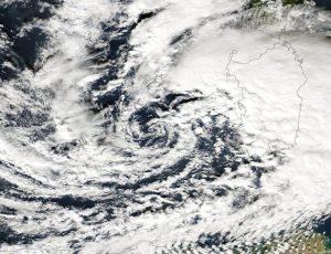 Il vortice depressionario ad ovest della Sardegna, corresponsabile dell'evento alluvionale