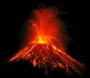 eruzione vulcano a Sumatra