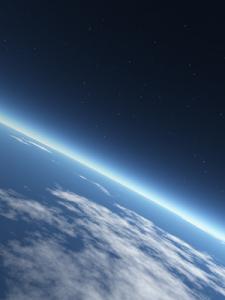 L'intenso colorazione azzurra dello strato di ozono troposferico