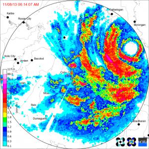 haiyan-landfall-radar
