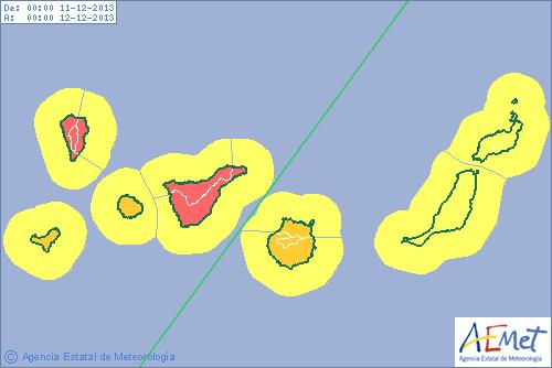 Allerta meteo alle isole canarie in arrivo precipitazioni for Meteo palma di montechiaro